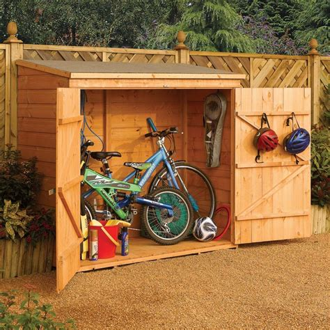 Bike Shed Home Depot 6 x 2 9 quot ft 1 8 x 0 8m wooden shiplap garden bike shed