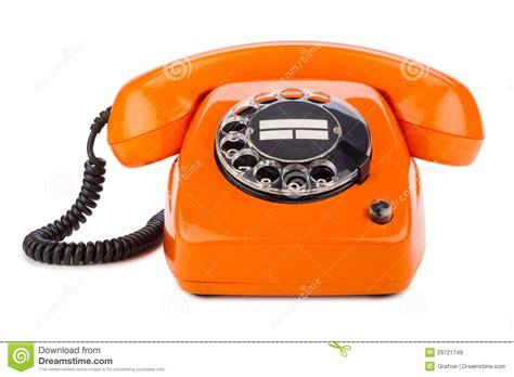 telefon retro orange retro telefon lizenzfreie stockfotos bild 29721748
