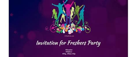freshers invitation card templates fresher banners design in hd