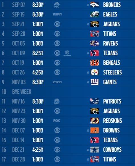 indianapolis colts 2014 schedule released