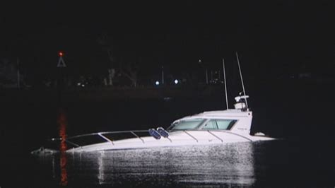 boat crash auckland powerboat collides with yacht at devonport wharf 1 news