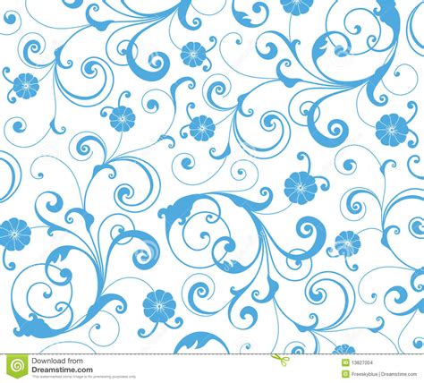 draw a pattern using flower as motif blue flower seamless pattern stock illustration image