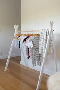 diy teepee clothing rack