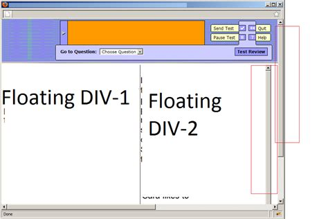 jquery floating div jquery floating div scrollbar issue remove window