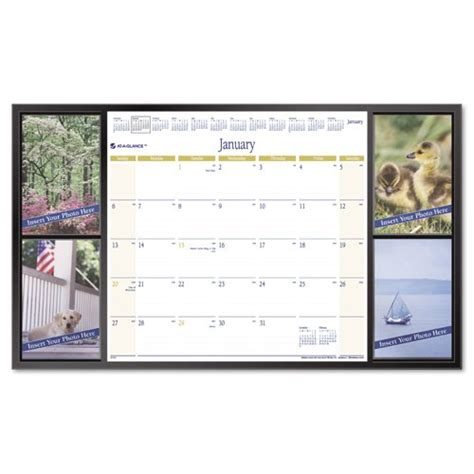 create your own desk pad calendar at a glance personalize it compact desk pad calendar