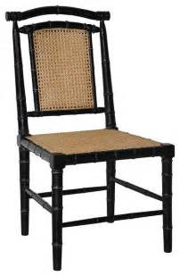 Yosemite Home Decor Sinks noir colonial bamboo chair with carving hand rubbed