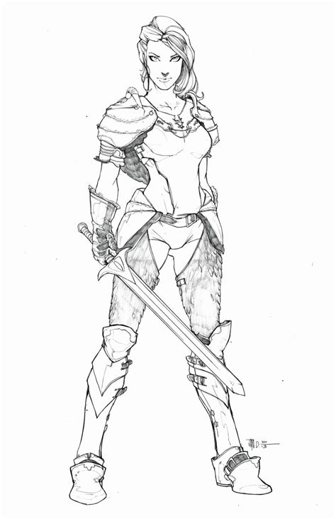 Warrior Princess By Harpokrates On Deviantart Warrior Princess Coloring Pages Free Coloring Pages