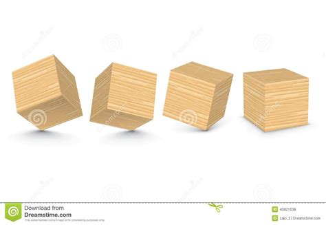 vector wooden blocks stock vector image  drawing