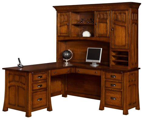solid wood corner computer desk with hutch amish bridgefort mission corner computer desk hutch office