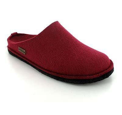 german wool slippers haflinger 174 soft boiledwool indoor slippers flair soft ruby
