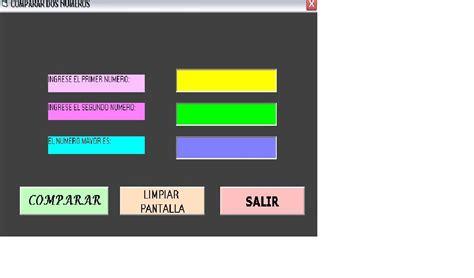 comparar imagenes visual basic programas de visual basic 6 0 comparar dos numeros
