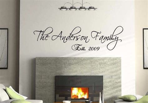 custom vinyl wall murals 36 quot personalized custom family name wall decal vinyl