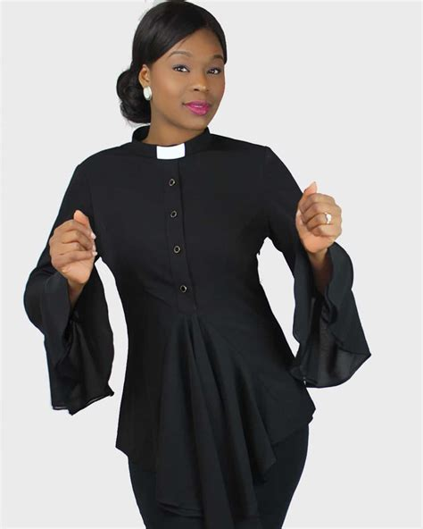 esther clergy blouse