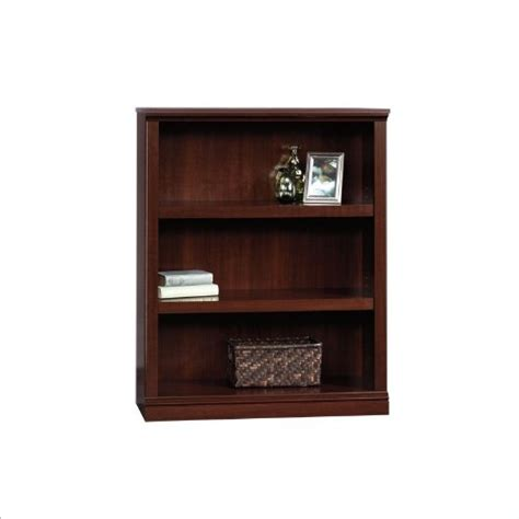 Sauder Bookcase Cherry Sauder 3 Shelf Bookcase Select Cherry Finish New Free