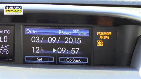 Subaru Of Puyallup by How To Set A Clock In A 2015 Subaru Forester Subaru Of