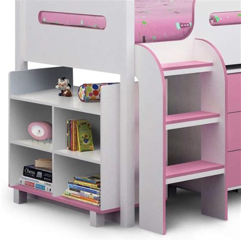 Julian Bowen Kimbo Pink Cabin Bed With Pull Out Desk Cabin Bed With Desk
