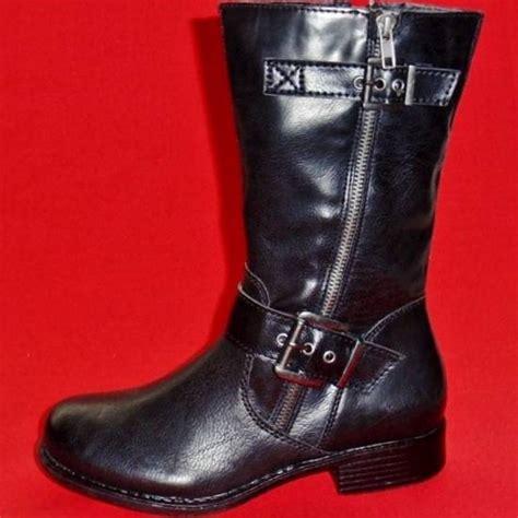 womens dress boots new s sonoma black fashion mid calf heels