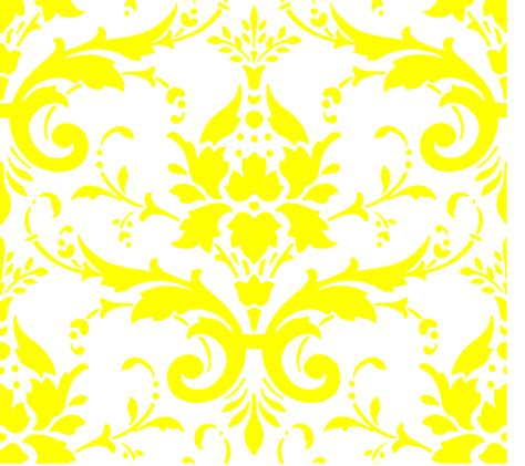 yellow royal pattern yellow on white damask clip art at clker com vector clip