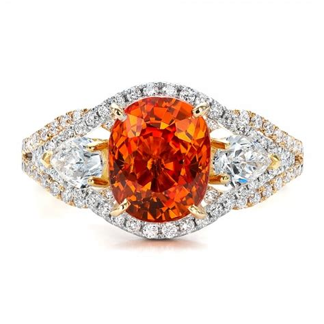 custom orange sapphire engagement ring 100117 bellevue