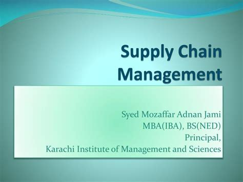 Supply Chain Mba Project Topics by Ppt Supply Chain Management Powerpoint Presentation Id
