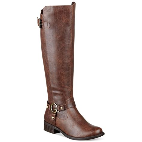 brown womans boots g by guess s headliner shaft boots in brown lyst