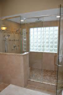 Glass Block Bathroom Ideas walk in shower with glass block windows bathroom ideas pinterest