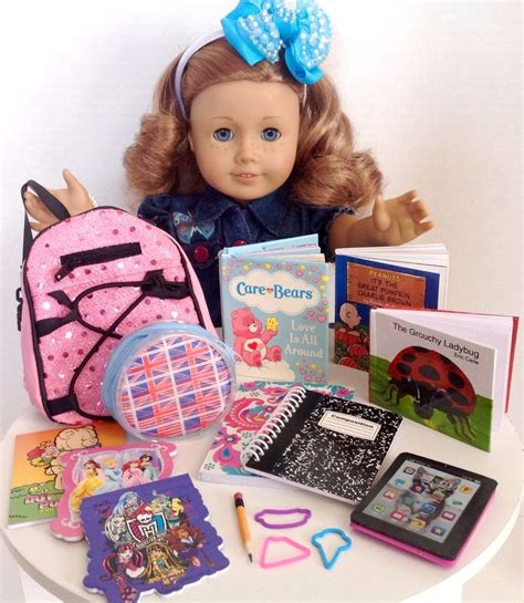 doll supplies uk school supplies sequin backpack for american doll