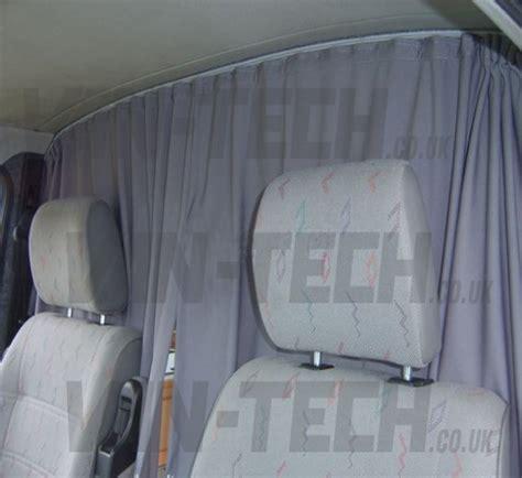 van privacy curtains vw t4 van transporter interior cab divider curtain van tech