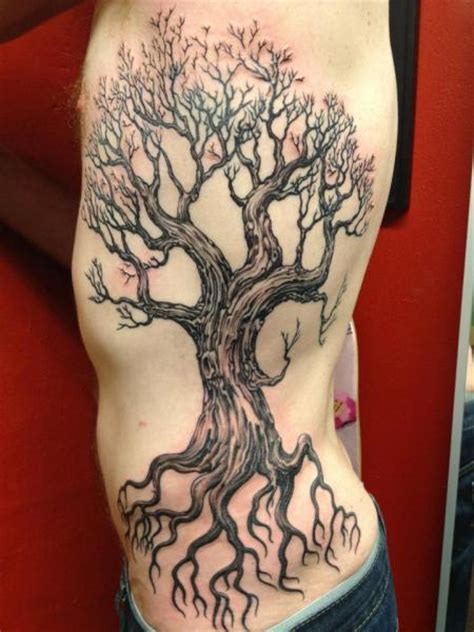 tree side tattoo on tree tattoos trees and winter trees