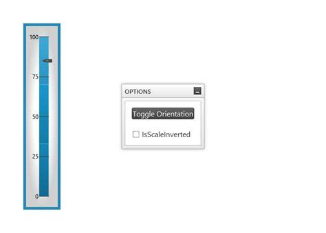 xaml vertical layout vertical orientation linear gauge wpf