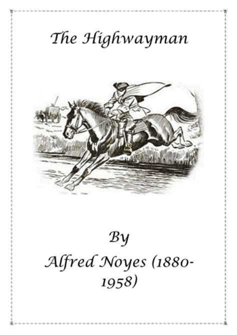 printable version of the highwayman poetry the highwayman by alfred noyes by wallipop