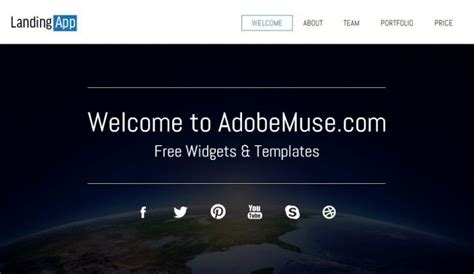 adobe muse templates free 12 best images about adobe muse on fresh