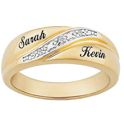 personalized s accent 10kt gold name wedding