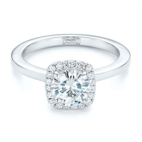 custom halo engagement ring 102460