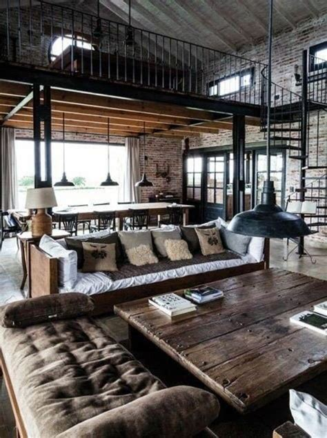 Style Industriel Salon les 25 meilleures id 233 es concernant style industriel sur