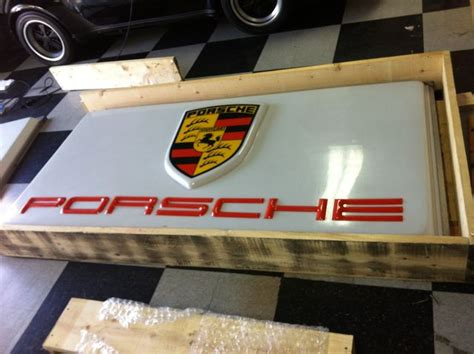 porsche garage art vintage porsche sign pelican parts technical bbs