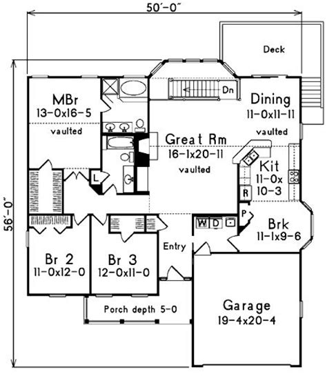 atrium ranch house plans plan 5733ha affordable atrium ranch ranch house plans
