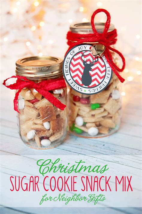 sugar cookie snack mix christmas neighbor gift or teacher