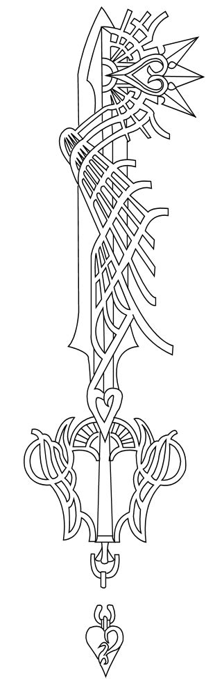 keyblade coloring pages ultima weapon keyblade lineart by reethax on deviantart