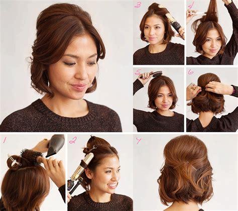 recogidos para pelo corto 25 peinados para cabello corto paso a paso bonitos