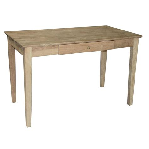 solid wood desk with drawers unfinished wood furniture atlanta furniture design ideas