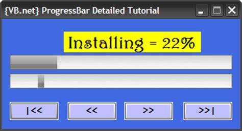 vb net tutorial progress bar visual basic 2008 2012 visual basic tutorials vb net progressbar visual basic