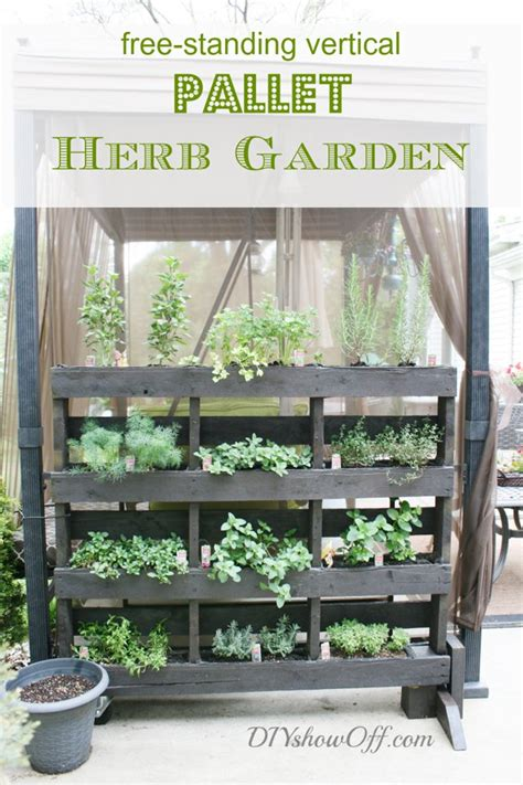 Diy Vertical Herb Garden 12 Creative Diy Pallet Planter Ideas For Craft