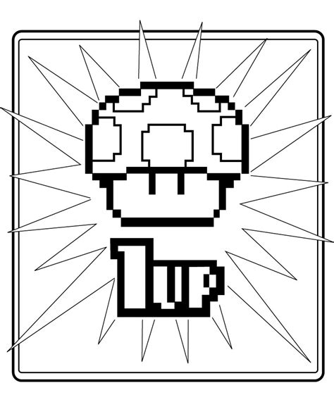 8 Bit Mario Coloring Pages by Jimbo S Coloring Pages 8 Bit 1 Up