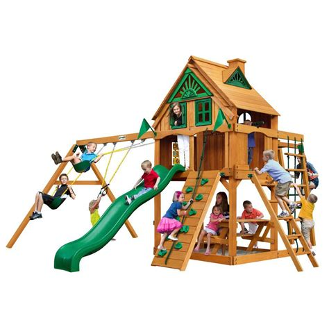 backyard playset accessories gorilla playsets navigator treehouse with fort add on and