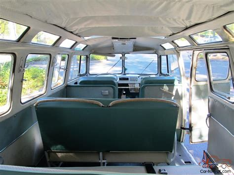 volkswagen minibus interior 1967 vw 21 window deluxe bus walk thru original interior