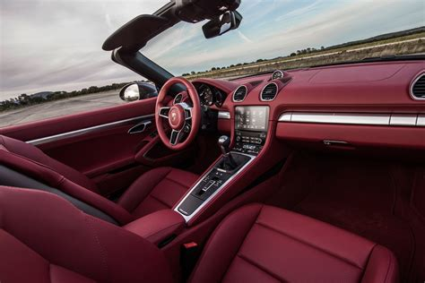 porsche boxster 2017 interior 2017 porsche 718 boxster reviews and rating motor trend