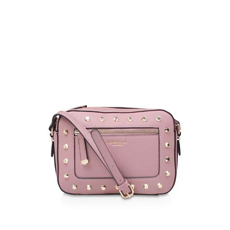 Stud Style Bag 7 stud x pink cross bag by carvela kurt geiger kurt geiger