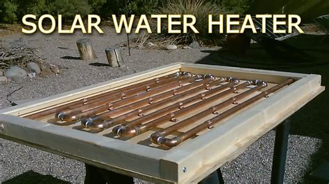 heat to electricity diy solar thermal copper pipe water heater easy diy