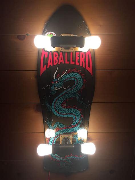 Diy Upcycled - skateboard wall lights the awesomer